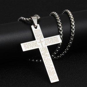 Punk-Kreuz-Halskette Hip Hop Schmuck Anhänger Halsketten-Gebet-Liebhaber Schmuck Geschenk Kreuz Brief-Halskette