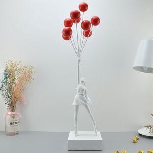Medicom Banksy Balon Kız Dekorasyon Modern Sanat Heykel İşçi Uçan Balonlar Kız
