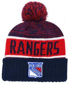 RANGERS Ice Hockey Knit Beanies Stickerei verstellbarer Hut Bestickte Hysteresenkappen Orange Weiß Schwarzer genähter Hut Einheitsgröße