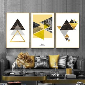 Minimalismo Poster and Prints geométrica amarela pintura abstrata Pictures Modern Artwork Recados Pictures para Living Room Home Decor