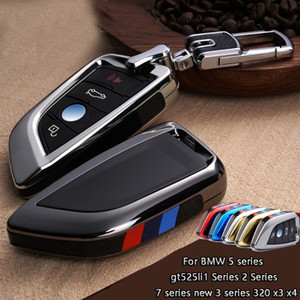 Car key Cover Case for X1 X5 X6 F15 F16 F48 1 2 Series Plating Remote Controller Key Bag Holder fit blade KeyChain