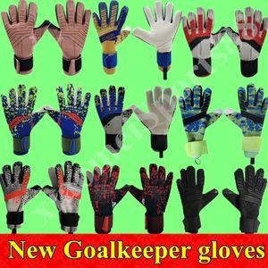 19 20 New Futebol goleiro luvas de dedos Proteção Professional Men Futebol Luvas Adultos Crianças mais grossas luvas de goleiro de futebol Fast Shipping