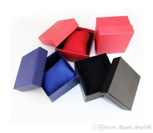 6 colors 100PCS black red blue watches box Cases paper Watch Box with Pillow Paper Gift Boxes Case For Jewelry Box