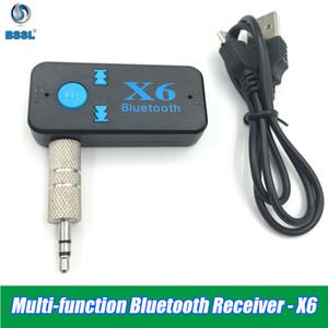 X6 بلوتوث V4.2 استقبال 3.5MM AUX سيارة صوت ستيريو الموسيقى ستيريو مع ميكروفون HANDFREE محول لاسلكي للهاتف بمكبر صوت بطاقة TF