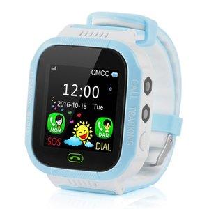 Y21S GPS 키즈 스마트 시계 안티 - 분실 손전등 아기 스마트 손목 시계 SOS 전화 위치 장치 추적기 아이 안전 팔찌를 들어 안드로이드 아이폰