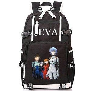 Zaino Evangelion Neon genesis EVA day pack Sacchetto di scuola del fumetto Anime packsack Zaino per laptop Zaino sportivo Zaino da esterno