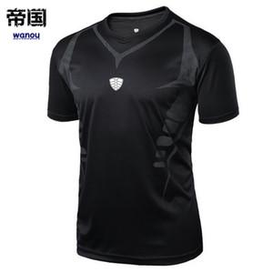 Camisas deportivas Hombres Deportes al aire libre Correr Fitness Mañana Correr Tenis Transpirable Bádminton Camiseta masculina Caminar Jogging Tops Camisetas