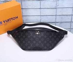 New Leather Women and men Waist Purse Solid Travel Bag Waist Bags Fanny Pack Bags Bum Bag Belt Bag M43644 SIZE 37x14x13CM