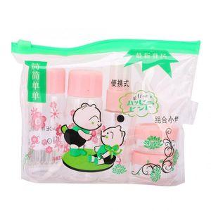 7pcs / set portable Maquillage réutilisable Bouteille vide Spray Lotion Crème Atomiseur Parfum Container Kit