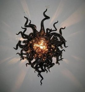 Hand Blown Glass Wall Sconce Murano Glass Black Wall Lamps with LED Bulbs Custom Made Wall Mouted Lighting