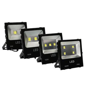 جديد المشعاع LED ضوء الفيضانات الكاشف 100W (2 * 50W) COB الكاشف 110V 10000lm IP65 CE تشديد الزجاج الألومنيوم نمط جديد