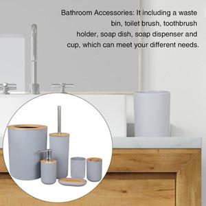 Home Hotel Туалет Кисть тарелки кухни Bamboo деревянный душ мыла Аксессуары для ванной комнаты Набор для гостиной большой емкости чашки