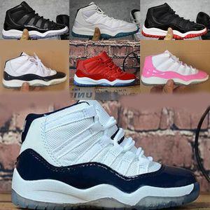 s 11 shoes Concord Gym Red баскетбол обувь Дети Мальчик Девушка Белой Розовая Полночь Navy кроссовки Малыши подарок на день рождения
