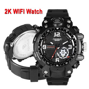 2K Smart Sport Camera Watch HD 1080p gravação de vídeo Wifi AP Hotspot Connection 32GB de memória IP67 Waterpoof Dustproof Led Light