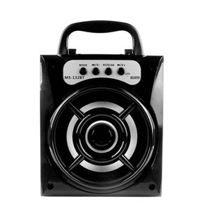 MS-132BT 휴대용 미니 무선 블루투스 스퀘어 스피커 지원 FM LED 소리가 나고 TF 카드 음악 재생 볼륨 컨트롤