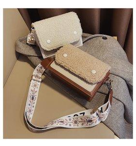 Lamb Wool Shoulder Bag 2020 Winter New Crossbody Bag Fashion Wild Small Square Plush Female Mobile Phone Wallet