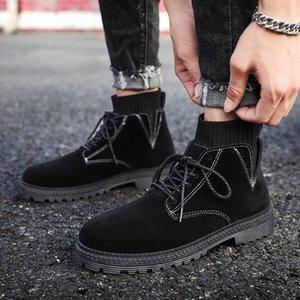 Erkekler Yüksek Top Erkek İngiliz Bilek Boots Moda Man Açık Seyahat Çorap Ayakkabı Botaş Hombre için MoneRffi Boots Erkekler Günlük Ayakkabılar