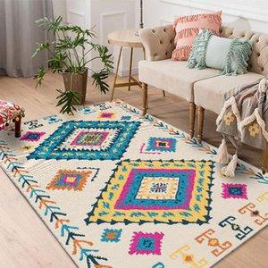 TPFOCUS Nordic Art-Fußboden-Matten-Teppich-rutschfeste weiche 100 * 160CM Dickere Bereich Teppich für Wohnzimmer Hauptdekoration Zubehör