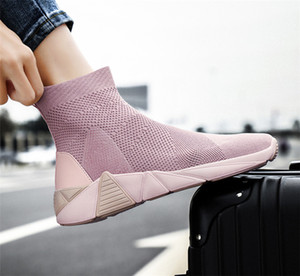 Cheap 2019 With Boxladies sports shoes autumn and winter wild lightweight fashion casual womes shoes pink black green wholes