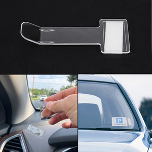 Car Vehicle Parking Ticket Permit Holder Clip Sticker Windscreen Window Fastener Stickers Kit Car Accessories