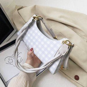 NEW French Design Fashion Lattice Armpit Bag & Elegant Handbag Square Bag Shoulder Crossbody Width 28cm Height 15.5cm