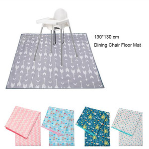 130*130 cm Dining Chair Cushion Floor Protector Mat Non Slip Waterproof Picnic Mat High Chair Cushion Mats Baby Eatting Play Mat