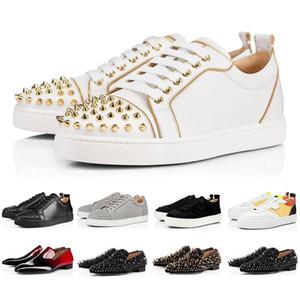plateforme en cuir suédé Bas clouté rouge Spikes Flats Souliers formels occasionnels de haute qualité Hommes Femmes Mode Low Cut Party amant Sneakers