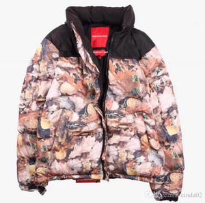 Ceket Aşağı Yaprak döken Yapraklar Nuptse Coats Çift Parkas Kış Kabanlar Moda Kuzey Giyim Ceket yazdır