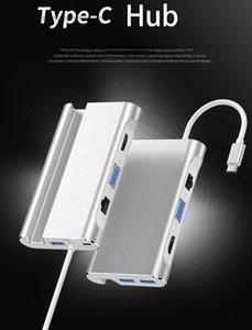 7-in-1 Typ C Hub USB C bis RJ45 HDMI VGA USB-Anschlüsse mit Hub-TF Sd Reader für MacBook Pro Samsung Huawei 52