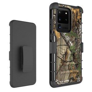 Hybrid Belt Clip Holster Kickstand Case For Samsung Galaxy S20 Ultra A20 A30 A50 A10E S8 Active Note8 Moto E6 Z4 Play