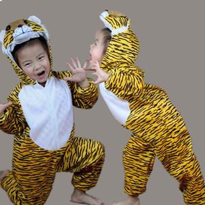 Çocuk Çocuk Kız Erkek Karikatür Hayvanlar Kostüm Performans Suit Tiger Çocuk Bayramı Cadılar Bayramı Kostüm Jumpsuit