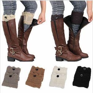 Mode femme d'hiver Jambières Manchettes Toppers Chaussettes Boot Crochet Knit dentelle