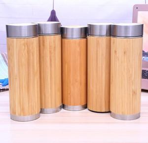 Çay Infuser Süzgeç 16oz ahşap şişe SN102 ile 2022 yeni Bambu Tumbler Paslanmaz Çelik Su Şişesi Vakum İzoleli Kahve Seyahat Mug