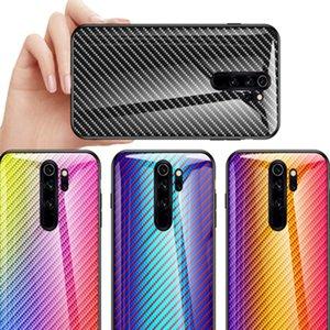 Fibre de carbone dégradé Téléphone cas pour Samsung Galaxy S20 Ultra S20 + S10 plus S10E Remarque 10 Plus A71 A51 A30 en verre trempé Couverture