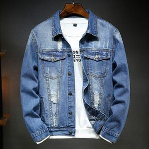 Moda Masculina Chamarra Mezclilla Hombre Streetwear chaqueta Vaquera Kore Veste En Jean İnce chaqueta Mezclilla Hombre Ceket
