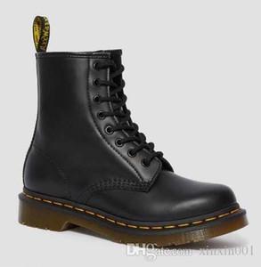 Dr. Martens shoes Moda 1460 Smooth Martins Botas completa de zapatos de trabajo de cuero Negro Blanco Rojo Cereza Azul marino para el hombre de las mujeres de la UE 35-48