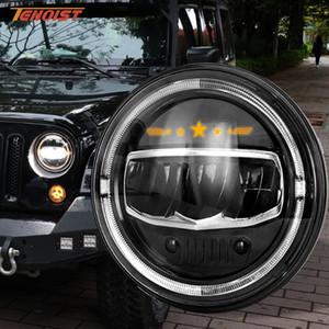 New Super luminoso di alta qualità da 7 pollici di 60W LED Alto Basso fascio luminoso per Wrangler JK Defender Lada Harley 12V 24V