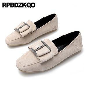 large size rhinestone 33 11 casual slippers suede crystal ballet women 10 loafers mules sandals ladies beautiful flats shoes