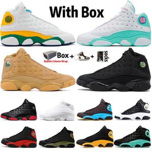 2020 Com Box Jumpman alta OG 13 13s Homens Mulheres tênis de basquete infantil Gato preto produzido DMP Sports Sapatilhas Homens Trainers Tamanho 36-47
