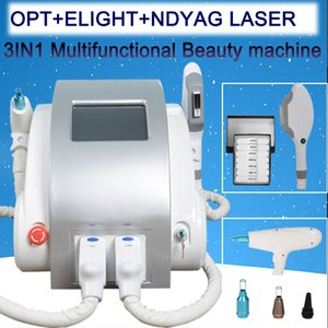 3 in 1 portable Q switched nd yag laser tattool removal IPL SHR hair removal pigment removal lizer
