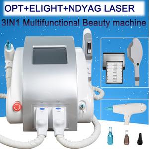 3 em 1 Q portátil switched nd yag laser de remoção de tatuagem IPL SHR depilação a laser máquina remoção do pigmento