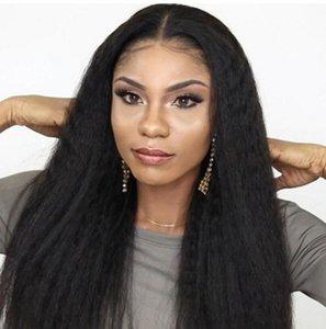 Malaysian Lace Front Menschliches Haar Perücken mit Babyhaar Verworrene Gerade Jungfrau Haar Glueless Billig Spitze Perücken Grob Yaki Perücken