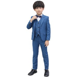 3-16Y Boys Formal Blazer Set Kids Jacket Vest Pants Suit Set for Weddings Costume Children Tuxedos Dress Outfits Clothing Set