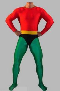 nouveau style Costume Aquaman Super-héros Rouge Vert Spandex Aquaman Halloween Costume Zentai Costume