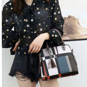 4Pcs set Tartan Backpack Purse for Women Schoolbag Travel Daypack Purses plaid Shoulder Crossbody Handbag wallets designer Phone Bags191010