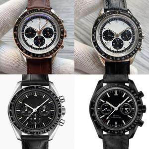 Omega Nuovo stile Moonwatch Co-Axial Chronometer Sport Mens quarzo Cronografo Velocità orologio master APOLLO progettista om Wristwa qYuw #