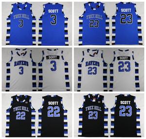One Tree Hill Ravens Maillots Basketball Frère Film 3 Lucas Scott 23 Nathan Scott Jersey Sport Cousu équipe Couleur Noir Blanc Bleu