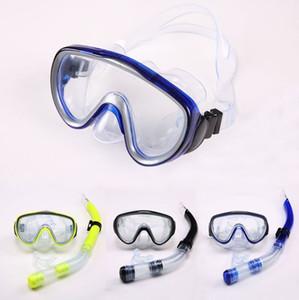 Diving maschera lo snorkeling immersioni nuoto totali snorkel secca e maschera pvc lente in vetro 3 bicchieri di colore di immersione