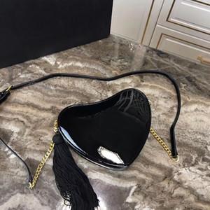 Die neue 2019 Die europäische und amerikanische Mode weiblichen Beutel Umhängetasche geneigten Umhängetasche Frau Kette Paket sexy Mode Liebe Perikard
