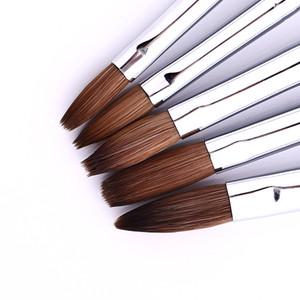 مسمار الفن فرشاة مقبض خشبي تصميم الاكريليك بناء شقة كريستال لوحة رسم نحت القلم للأشعة فوق البنفسجية لاينر جل مانيكير مجموعة أداة